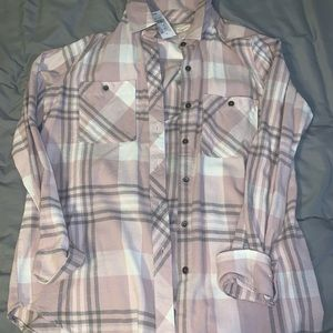 PacSun pink flannel
